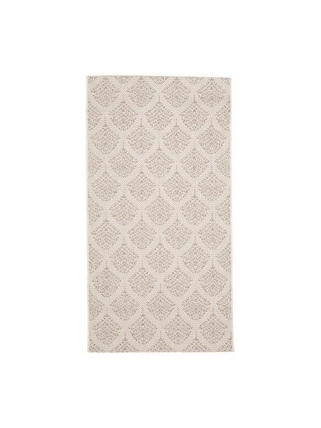 In- & outdoor vloerkleed met patroon Stan in beige/wit, 100% polypropyleen, Lichtbruin, lichtbeige, B 80 x L 150 cm (maat XS)