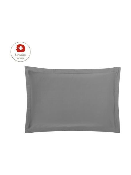 Baumwollsatin-Kissenbezug Premium in Dunkelgrau mit Stehsaum, 65 x 100 cm, Webart: Satin, leicht glänzend Fa, Dunkelgrau, 65 x 100 cm