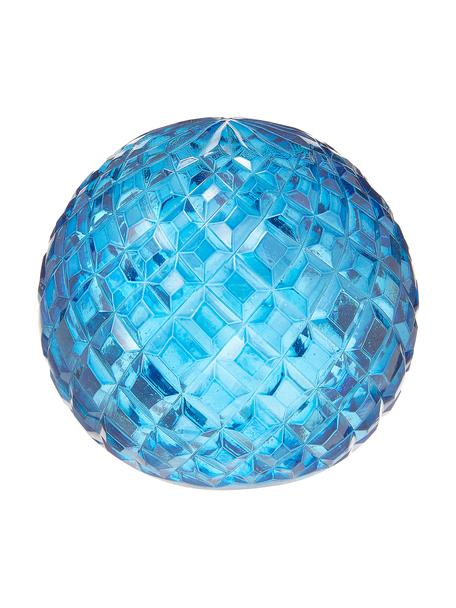 Decoratief object Blue van glas, Glas, Blauw, Ø 7  x H 9 cm