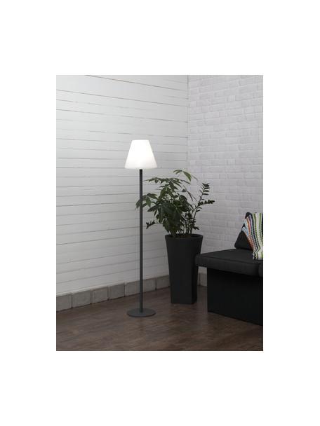 Outdoor LED-vloerlamp Gardenlight met vloerlamp, Lampenkap: kunststof, Lampvoet: gecoat metaal, Wit, antraciet, Ø 28 x H 150 cm