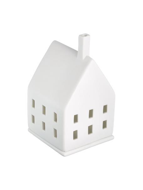 Portavelas de porcelana Lichtzauber, Porcelana, Blanco, An 7 x Al 10 cm