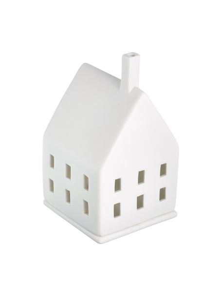 Waxinelichthouder House, Porselein, Wit, 7 x 10 cm