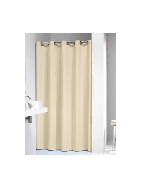Zasłona prysznicowa Coloris, 67% poliester, 33% bawełna Produkt odporny na wilgoć, niewodoodporny, Beżowy, S 180 x D 200 cm