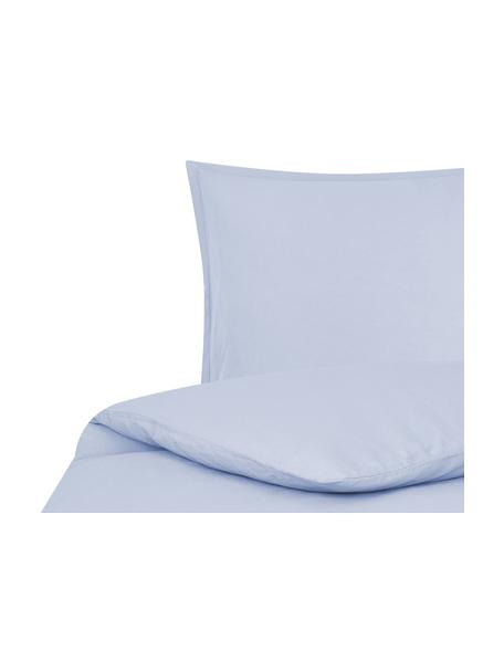 Pościel z lnu z efektem sprania Nature, Jasny niebieski, 135 x 200 cm + 1 poduszka 80 x 80 cm