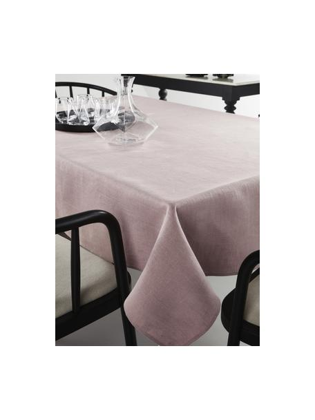 Mantel de lino Heddie, 100%lino, Rosa, De 6 a 10 comensales (An 145 x L 250 cm)