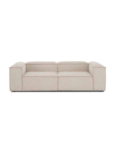 Modulares Sofa Lennon (3-Sitzer) in Beige aus Cord, Bezug: Cord (92% Polyester, 8% P, Gestell: Massives Kiefernholz, Spe, Cord Beige, B 238 x T 119 cm