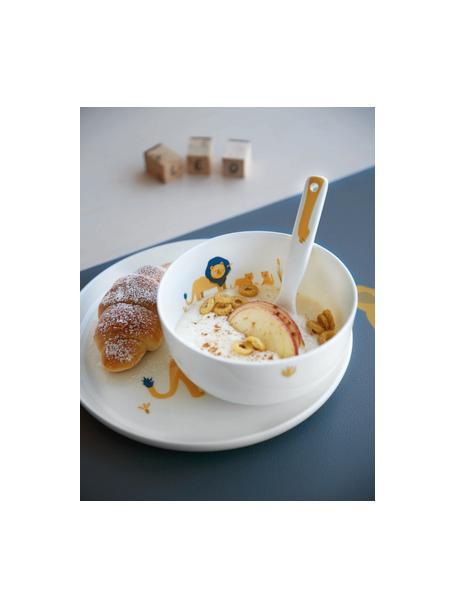 Servizio da tavola Leo Löwe 5 pz, Fine Bone China (porcellana), Bianco, giallo, blu, Set in varie misure