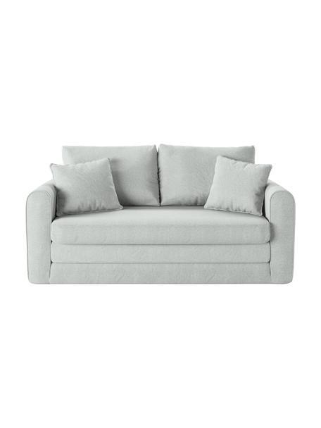 Sofá cama Lido (2plazas), Tapizado: poliesto con tacto de lin, Estructura: madera de pino maciza, ag, Patas: plástico, Azul claro, An 158 x F 69 cm
