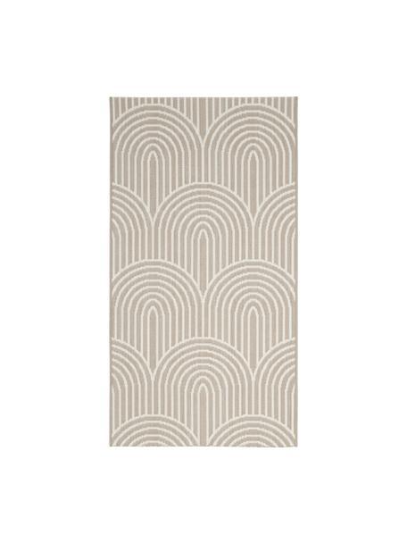 Tappeto beige/bianco da interno-esterno Arches, 86% polipropilene, 14% poliestere, Beige, bianco, Larg. 80 x Lung. 150 cm (taglia XS)