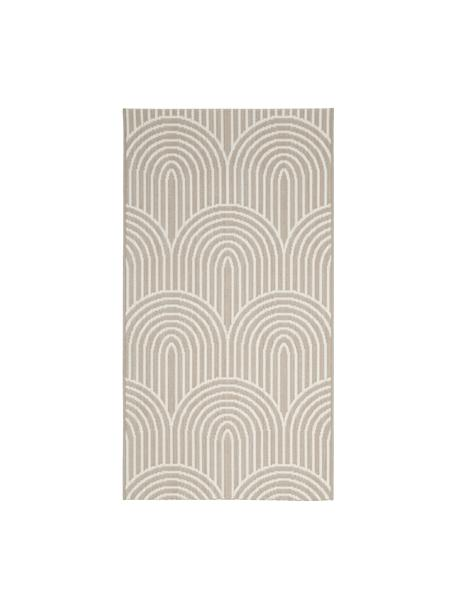 Alfombra de interior/exterior Arches, 86%polipropileno, 14%poliéster, Beige, blanco, An 80 x L 150 cm (Tamaño XS)