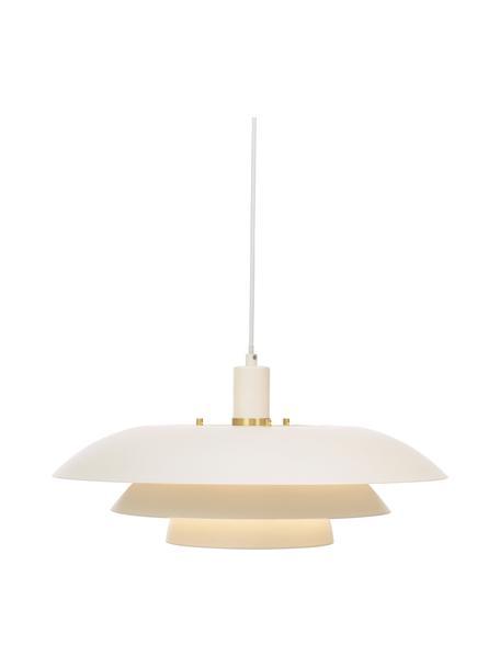 Pendelleuchte Epsilion in Weiß, Lampenschirm: Metall, beschichtet, Baldachin: Kunststoff, Weiß, Ø 45 x H 21 cm