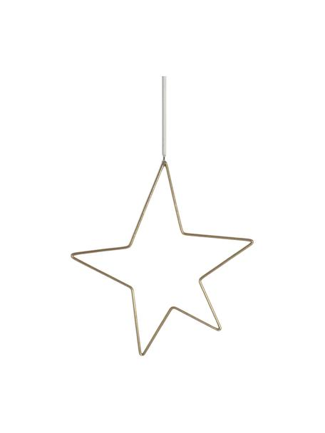 Ciondolo a stella dorato Kelia, alt. 23 cm, Ottonato, Larg. 21 x Alt. 23 cm