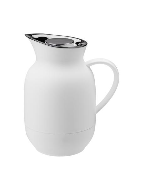 Isolierkanne Amphora in Weiss matt/Silber, Kanne: Kunststoff, Weiss, 1 L