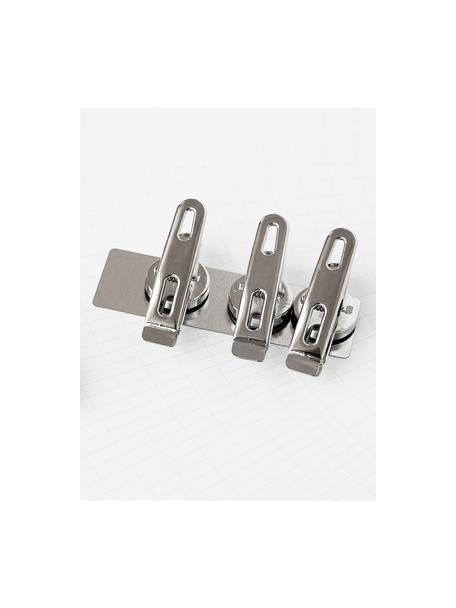 Magneetklemmen Clips, 4 stuks, Magnetisch metaal, Metaalkleurig, 2 x 5 cm