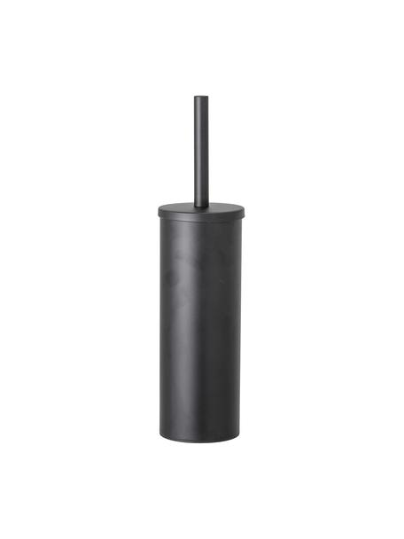 Toiletborstel Loupi van edelstaal, Zwart, Ø 9 x H 38 cm