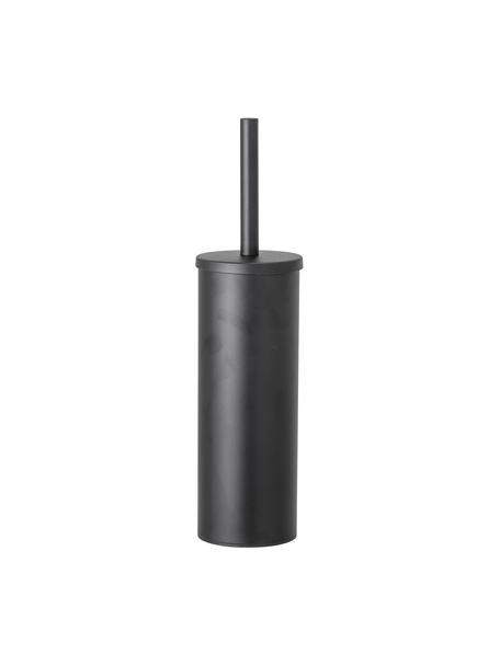 Toilettenbürste Loupi aus Edelstahl, Schwarz, Ø 9 x H 38 cm