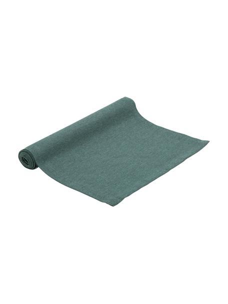 Bieżnik z mieszanki bawełny Riva, 55%bawełna, 45%poliester, Petrol, S 40 x D 150 cm