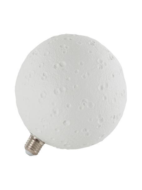 E27 Leuchtmittel, 8W, neutrales Weiß, 1 Stück, Leuchtmittelschirm: Porzellan, Leuchtmittelfassung: Aluminium, Weiß, Ø 18 x H 20 cm