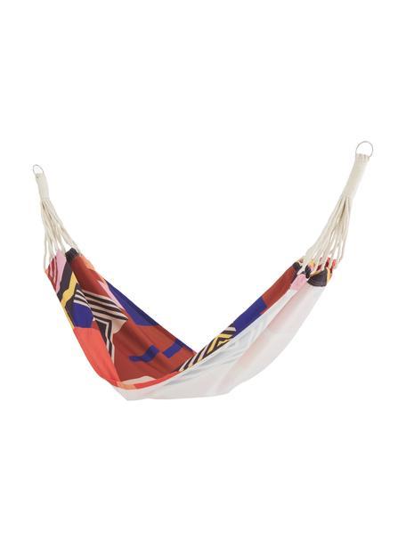Amaca con motivo colorato Arti, Poliestere, Rosso, blu, nero, rosa, giallo, Larg. 80 x Lung. 180