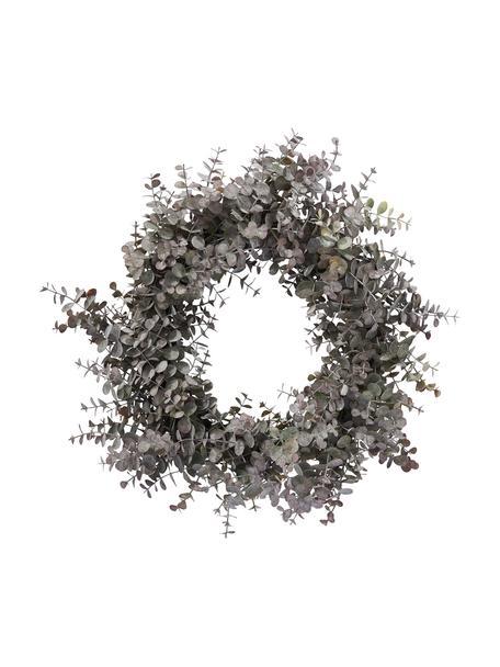 Ręcznie wykonany wieniec eukaliptusowy Eurelia, Tworzywo sztuczne, Pudrowy zielony, Ø 46 x W 10 cm