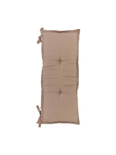 Einfarbige Bankauflage Panama in Taupe, Bezug: 50% Baumwolle, 45% Polyes, Taupe, 48 x 150 cm