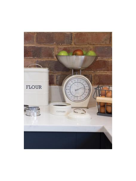 Keukenweegschaal Nostalgia, Edelstaal, deels gecoat, Crèmekleurig, 25 x 30 cm