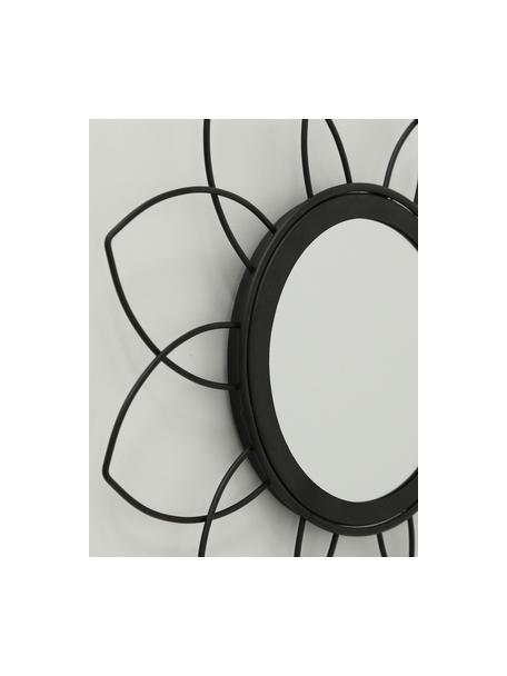 Set 3 specchi da parete Naima, Cornice: metallo rivestito, Superficie dello specchio: lastra di vetro, Nero, Ø 27 cm