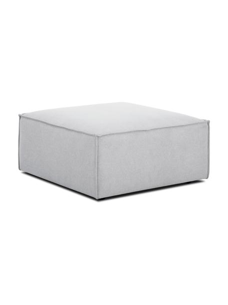 Poggiapiedi da divano in tessuto grigio chiaro Lennon, Rivestimento: 100% poliestere Il rivest, Struttura: legno di pino massiccio, , Piedini: materiale sintetico I pie, Tessuto grigio chiaro, Larg. 88 x Alt. 43 cm