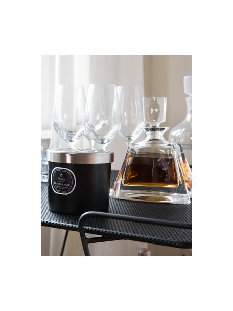 Vela perfumada con tres mechas Black Magic (naranja y hierba de limón), Recipiente: cristal, Negro, crema, Ø 12 x Al 11 cm