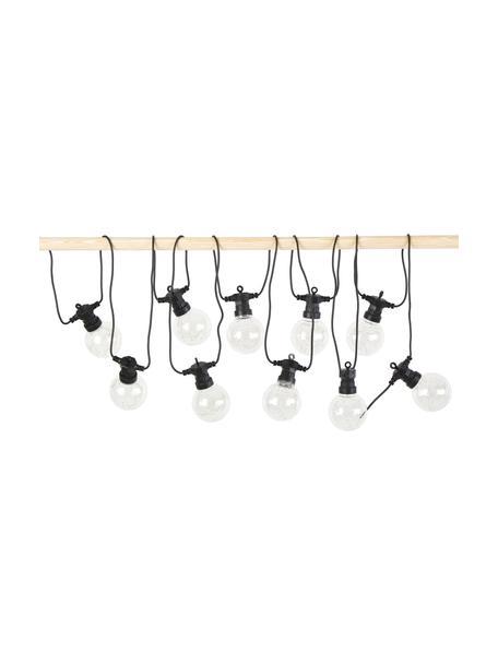 Outdoor LED lichtslinger Crackle Chain, 750 cm, 10 lampions, Lampions: kunststof, Fitting: kunststof, Transparant, L 750 cm