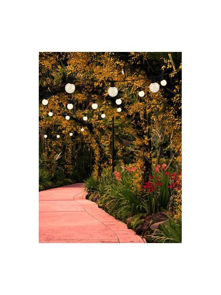 LED-Lichterkette Crackle Chain, 750 cm, 10 Lampions, Lampions: Kunststoff, Transparent, L 750 cm
