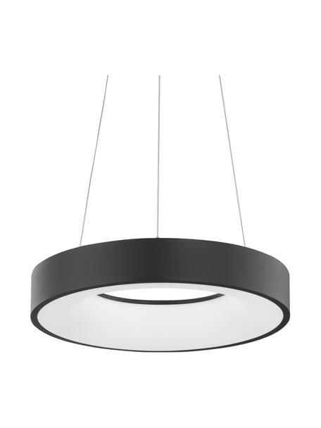 Lampada a sospensione dimmerabile a LED Rando, Paralume: alluminio rivestito, Baldacchino: alluminio rivestito, Nero, Ø 38 x Alt. 6 cm