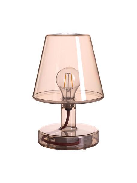 Mobile Dimmbare Außentischlampe Transloetje, Leuchte: Kunststoff, Braun, transparent, Ø 17 x H 27 cm