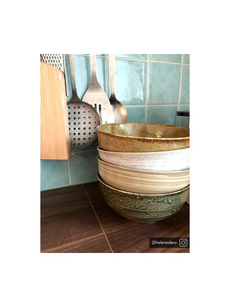 Handgemachte Schälchen Yunomi im japanischen Style, 4er-Set, Keramik, Brauntöne, Ø 17 x H 8 cm
