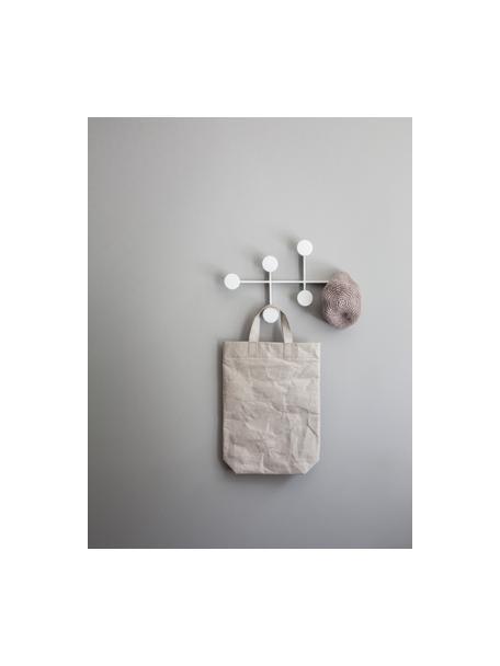 Wandkapstok Afteroom, Gepoedercoat staal, Wit, 37 x 24 cm