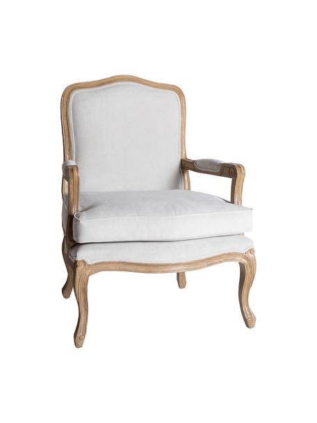 Sillón Riviera, Tapizado: 90% poliéster, 10% nylon, Estructura: madera de Sungkai maciza, Blanco, marrón, An 68 cm x F 74 cm