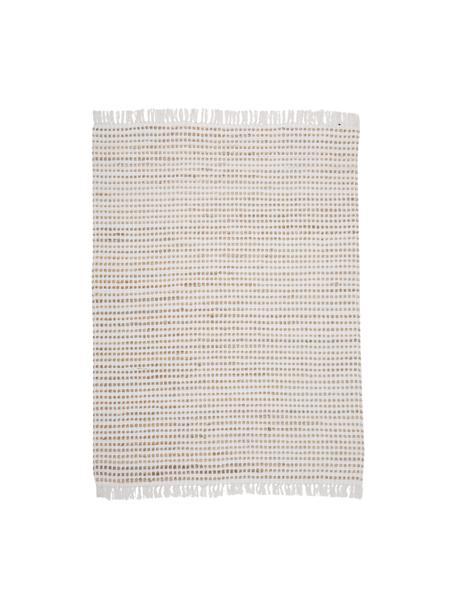 Teppich Fiesta aus Baumwolle/Jute, 55% Baumwolle, 45% Jute, Weiß, Beige, B 150 x L 200 cm (Größe S)