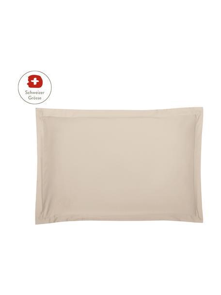 Baumwollsatin-Kissenbezug Premium in Taupe mit Stehsaum, 65 x 100 cm, Webart: Satin, leicht glänzend Fa, Taupe, 65 x 100 cm