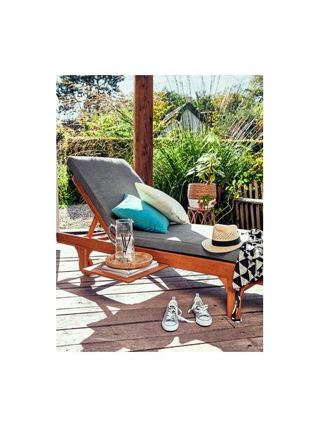 Stuhlauflage Somerset, Bezug: Polyester, Grau, 64 x 200 cm