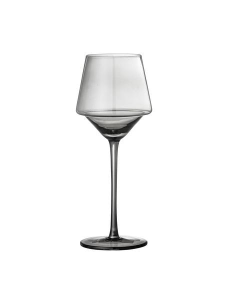 Copas de vino Yvette, 4uds., Vidrio, Gris, Ancho 160 cm