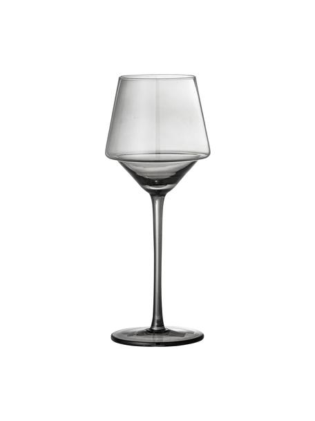 Weingläser Yvette in Grau, 4 Stück, Glas, Grau, Ø 9 x H 23 cm