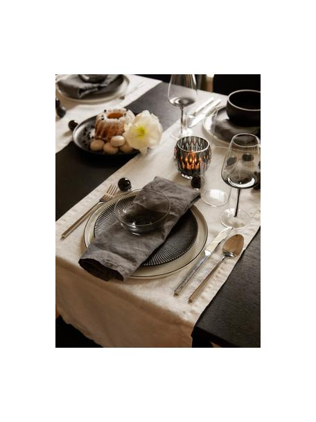 Copas de vino de vidrio soplado artesanalmente Smoke, 4uds., Vidrio soplado y de paredes gruesas, Gris oscuro, Ø 9 x Al 21 cm