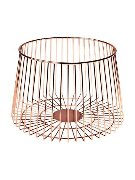 Cestino in rame Basket, Acciaio inossidabile rivestito, Ramato, Ø 24 x Alt. 16 cm