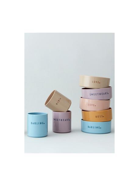 Kinderbeker Mini Favourite met verschillend opschrift aan de voor- en achterzijde, Tritan (kunststof), BPA-, BPS- en EA-vrij, Roze, Ø 7 x H 8 cm