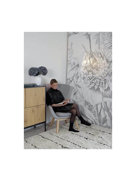 Wandlamp Monkey met stekker, Lamp: kunsthars, Wit, 77 x 37 cm