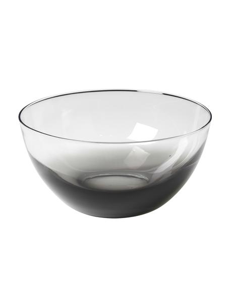 Mondgeblazen schaal Smoke van glas, Ø 25 cm, Glas, Fumé, transparant, Ø 25 x H 12 cm