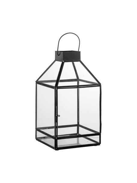 Lanterna in metallo Khoa, Struttura: metallo rivestito, Nero, Larg. 15 x Alt. 28 cm
