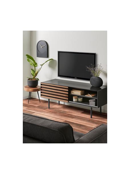 Mobile TV con finitura in noce Kesia, Grafite, legno di noce, Larg. 120 x Alt. 49 cm