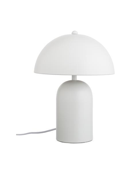 Kleine retro tafellamp Walter in wit, Lampenkap: metaal, Lampvoet: metaal, Mat wit, Ø 25 x H 33 cm