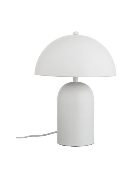 Lámpara de mesapequeña Walter, estilo retro, Pantalla: metal, Cable: plástico, Blanco mate, Ø 25 x Al 33 cm